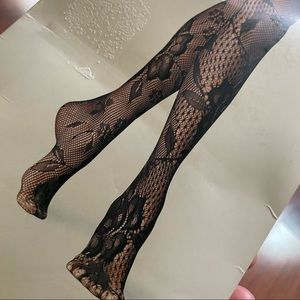 Fashion tights fishnets floral s/m